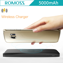 ROMOSS Power Bank 5000mAh SS05 Qi Wireless Charger Portable External Battery Built-in Wireless Charging Universal Power Bank