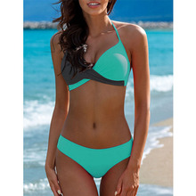 2019 Sexy Bikini Swimwear Women Swimsuit Push Up Bikinis Women Bathing Suit Biquini Brazilian Bikini Set Solid Beachwear Female цена в Москве и Питере