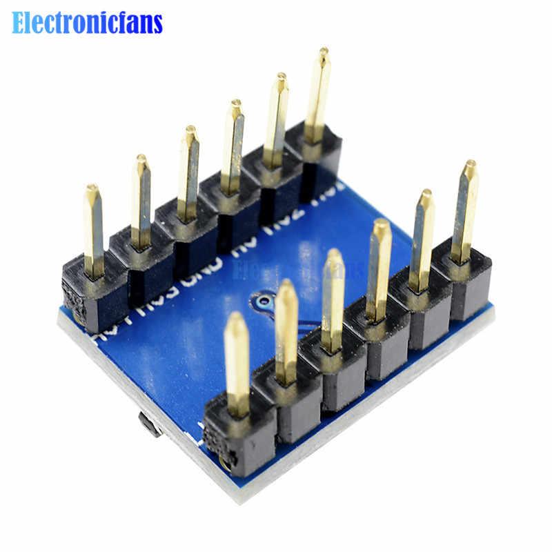 5 قطعة IIC I2C المنطق مستوى محول ثنائية الاتجاه لوحة تركيبية 5 فولت/3.3 فولت تيار مستمر لاردوينو مع دبابيس