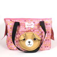 Blue Pink Carrying Bag For Dogs Cute Adorkable Bear Pet Cats Travel Transport Supplies For Puppy