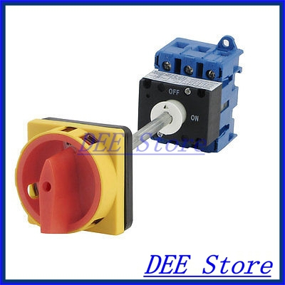 AC690V AC220V AC440V 380V 40A ON/OFF 2 Position Rotary Cam Changeover Switch promotion  on off two 2 position rotary