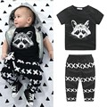 2017 New 2Pcs Fashion Cotton Spring Baby Boy Summer Clothing Sets Children Outfits T-shirt Tops+Pants Set Infant Clothes