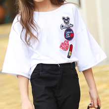 Girls Clothes Sets Summer 2017 Kids Clothes Girls Sets Teens T-Shirt with Denim Pants 2pcs Clothing Set Age 8 10 12 15 Years old