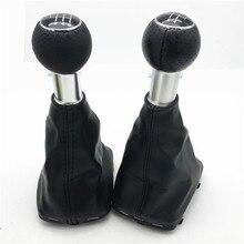 12 мм/23 мм Автомобильный Стайлинг 5/6 Скорость Шестерни рукоятка рычага переключения передач с кожаный чехол переключателя передач загрузки чехол для Audi A3 S3 8L 1.6L 2001 2002 2003