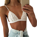2016 Nova Moda Womens Casual Triângulo Bralette Sutiã Sexy Colheita Encabeça Mulheres Roupas Íntimas de Renda Sem Forro Blusas