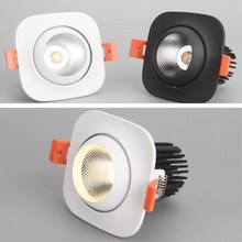 New High Quality Square Recessed led down light  15W COB LED Spot Lamp Dimmable Adjustable Ceiling Downlight for Home