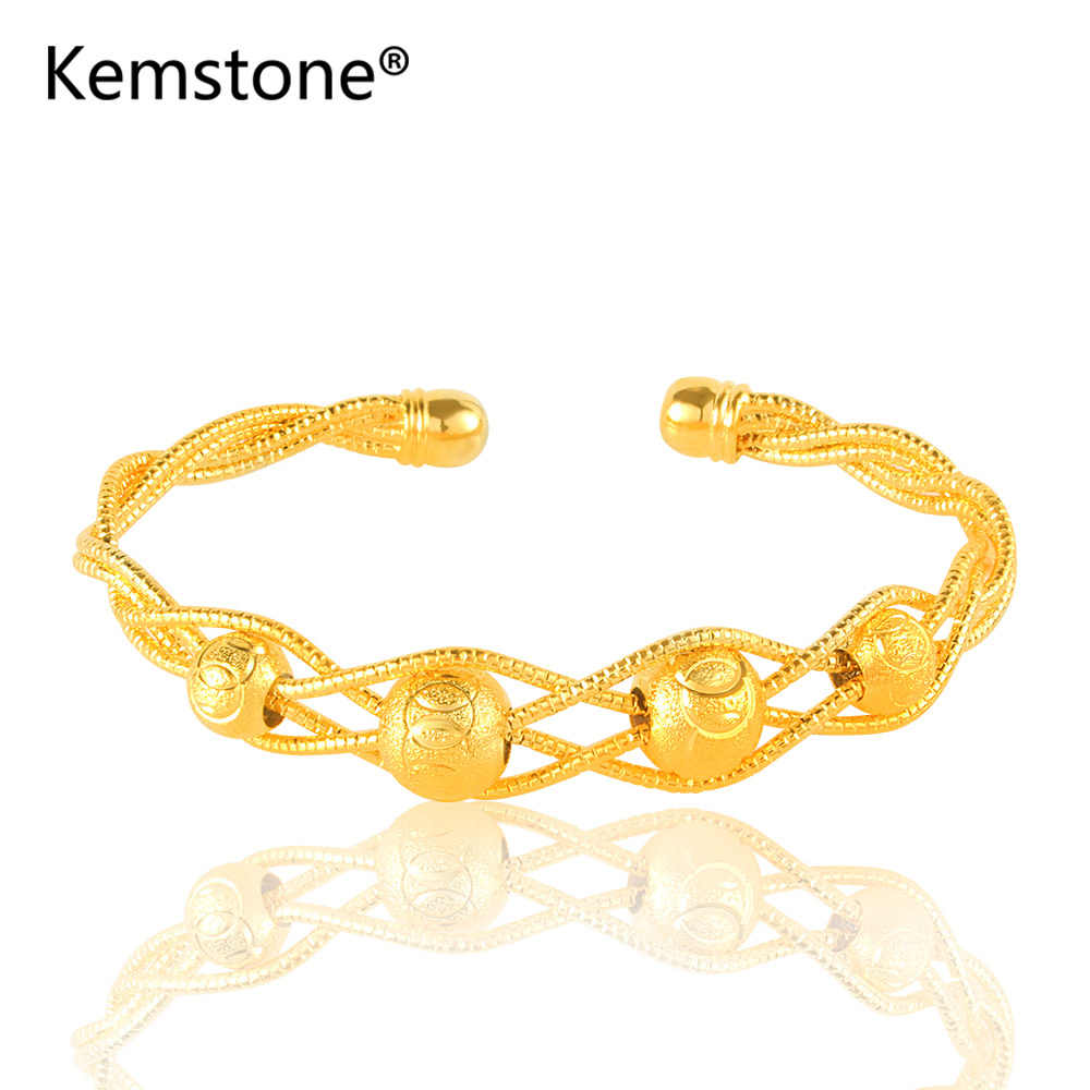 Kemstone золотой цвет многоцветные тканевые бусины настраиваемый Шарм открытые
