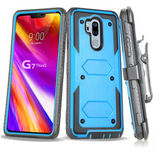 For LG G7 ThinQ/LG G8 ThinQ Heavy Duty Hybrid Rugged Case Shockproof Hard Fundas With Belt Clip Holster Cover For LG G7 ThinQ waterproof rugged mobile device protection holster case with clip