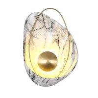 Hars Wandlamp Blaker Wandlampen Voor Home Verlichting Eenvoudige Koperen LED Wandlamp Nordic Trap Slaapkamer Verlichtingsarmaturen Arandela-in LED Indoor Wandlampen van Licht & verlichting op