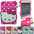 Милый комикс 3D Hello Kitty мягкий силикон крышка чехол пт iPad 2 / 3 / 4 малыш подарок с экран и ручка 1 пк
