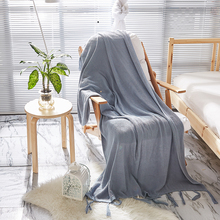 cotton blanket for bed sofa soft aircondition chunky knit weighted throw blankets adult summer Bedspread