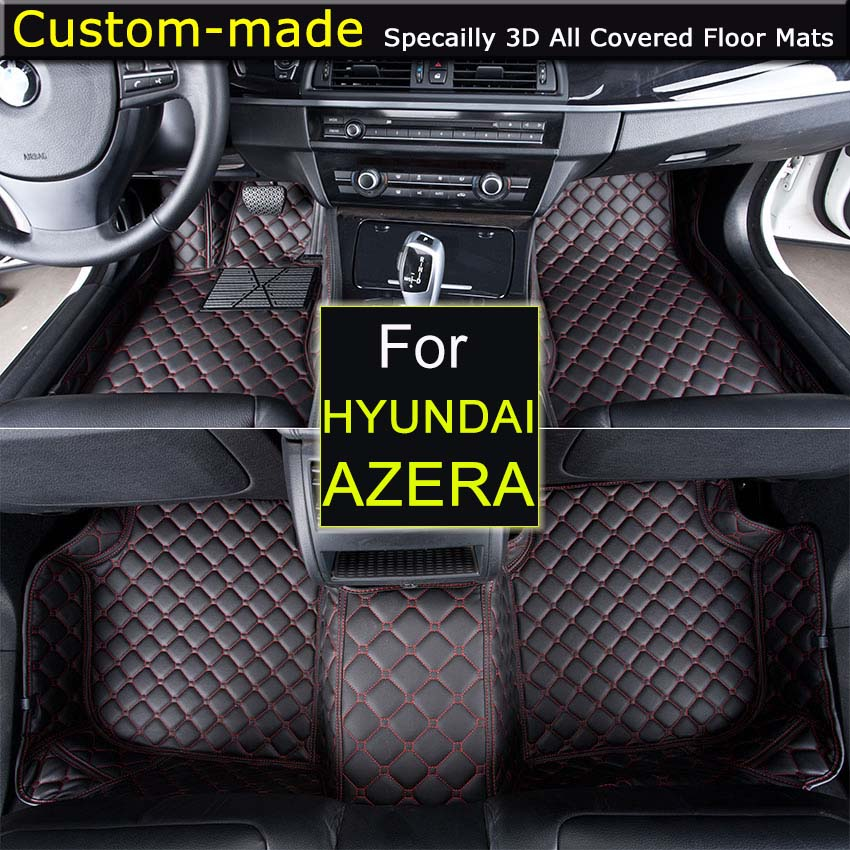 Car floor Mats for Hyundai Azera 2006-2010 2011- Foot Rugs Custom Carpets Car Styling Customized Specially Black Beige Brown цена