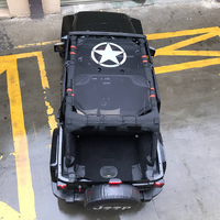 Sunshade Mesh Top Cover Anti UV Rays Travel Sunshade Cover Roof JK Accessories Polyester For Jeep Wrangler 2007 2017 4 Doors