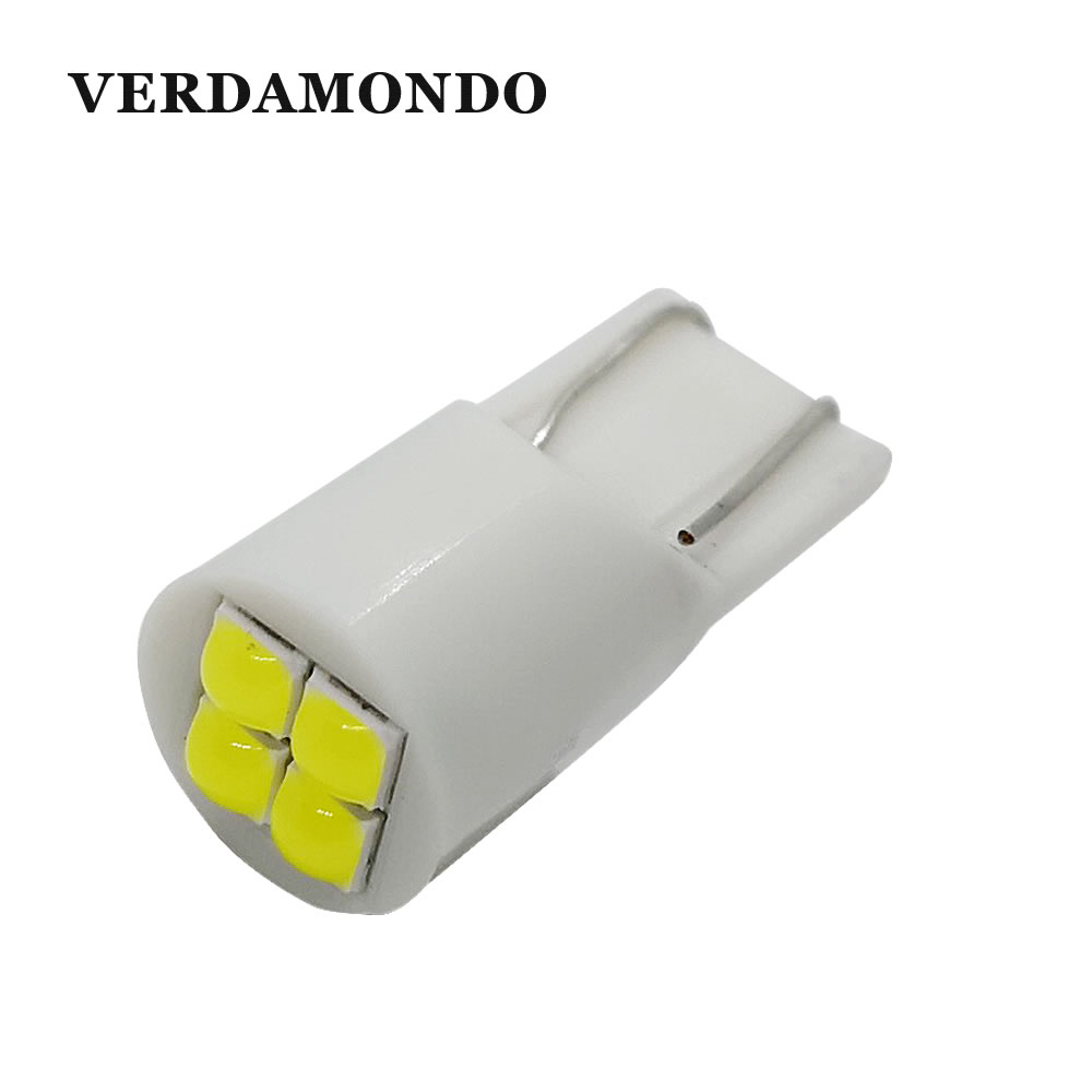 W5W T10 194 168 3030 4 SMD Spherical Car Led Bulbs Side Wedge Dome Light Reading Turn Signal Lamp  White 12V