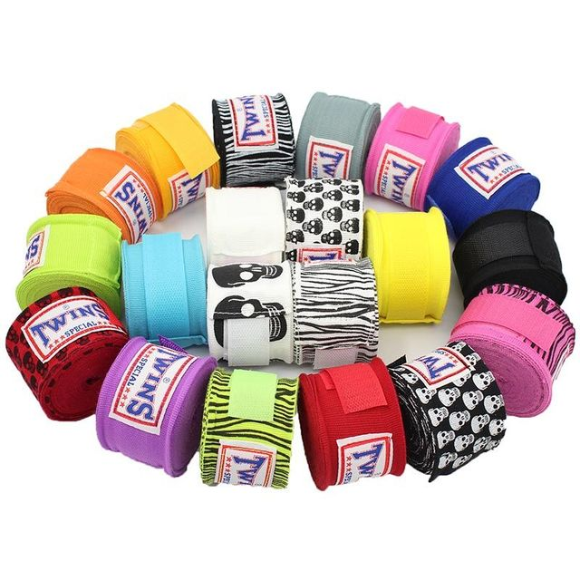 2pcs/pack 5M TWINS Boxing Hand Wraps MMA Kick Boxing Handwraps for Training 5cm width Bandages Muay Thai F
