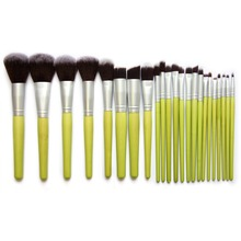 23pcs Green Bamboo Handle Makeup Brushes Set Duo Powder Eyeshadow Brush Tool