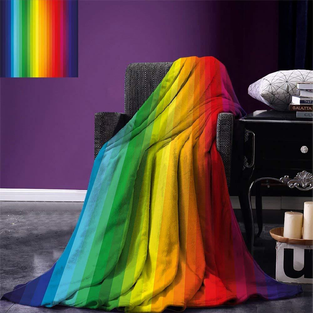 Rainbow Throw Blanket Rainbow Inspired Vertical Lines