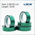 25mm width Green PET Adhesive Tape High Temperature for PCB Solder Shielding
