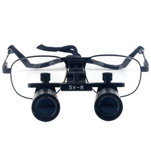 Dental Loupes Magnifier/ Binocular Medical Loupe 5.0X 420mm Glasses Magnifing Loupes Optical-Surgical Microscope Christmas Gift
