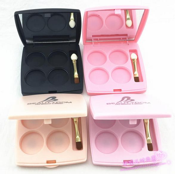 все цены на free shipping 4 grid eye shadow / lipstick pressure plate empty box ( mirror , magnet and eyeshadows stick ,aluminum plate) онлайн