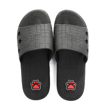 Whoholl Brand Men Slippers Cute Dog Print Summer Indoor Non-slip Slprs Thick-soled Home Plus Size 36-44