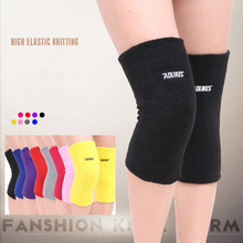 1 pair Nylon Breathable warmth long thick towel knee pads double layer Fitness Running Knee Support Braces Elastic Sport A pressurized fitness running cycling knee support braces elastic nylon knee pads nylon silk sports protective gear knee pads back