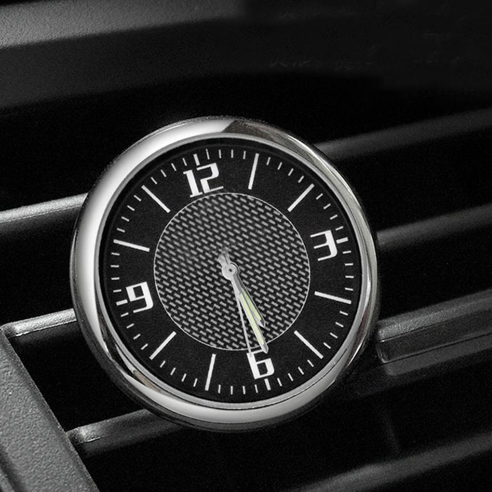 Car Clock Auto Car Vehicle Luminous Round Quartz Clock Watch Dashboard Air Outlet Decor