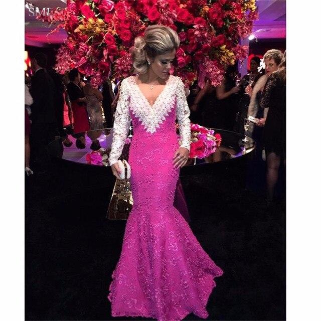 SML Atractivo color de Rosa Caliente Vestidos de Noche Con Cuentas ...