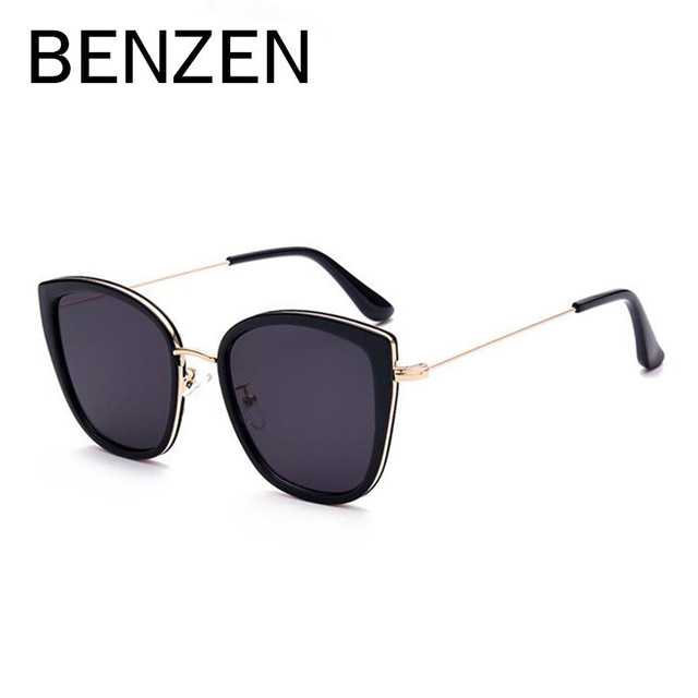 BENZEN Sunglasses Women Polarized Cat Eye Vintage Female Sun Glasses Designer Shades Driving Glasses For Women With Case 6283