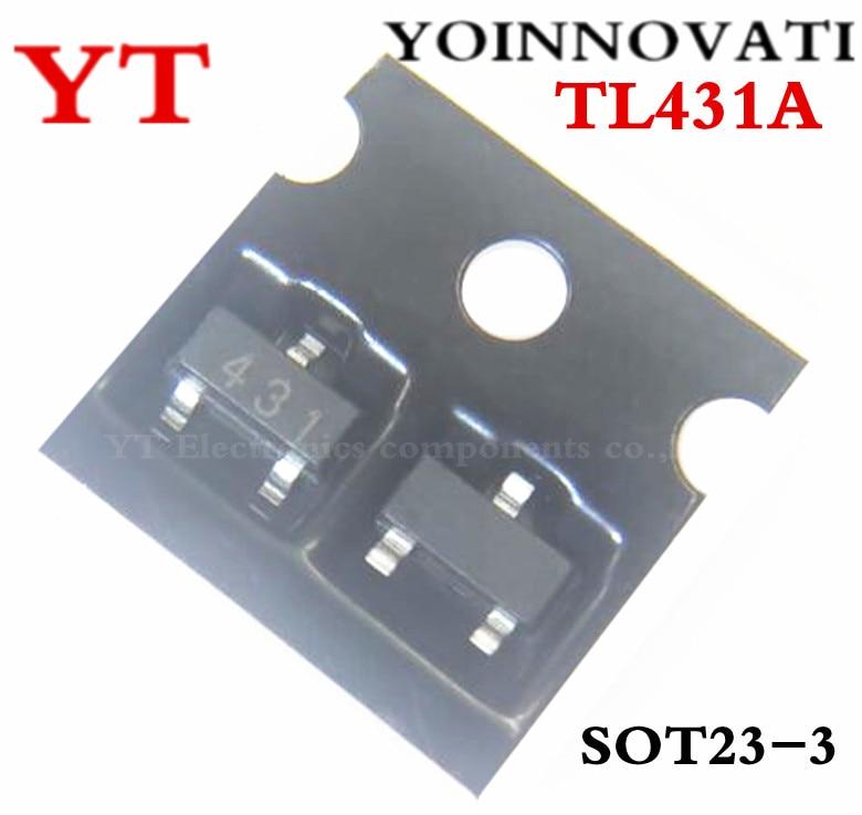 Free Shipping 50pcs TL431 TL431A SOT-23 Voltage Regulator IC Best Quality