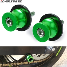 10mm CNC Aluminum Swing Arm Motorcycle Swingarm Sliders Spools Swingarm Stand Screws Slider For Kawasaki Z1000 Z 1000 2003-2013 цена