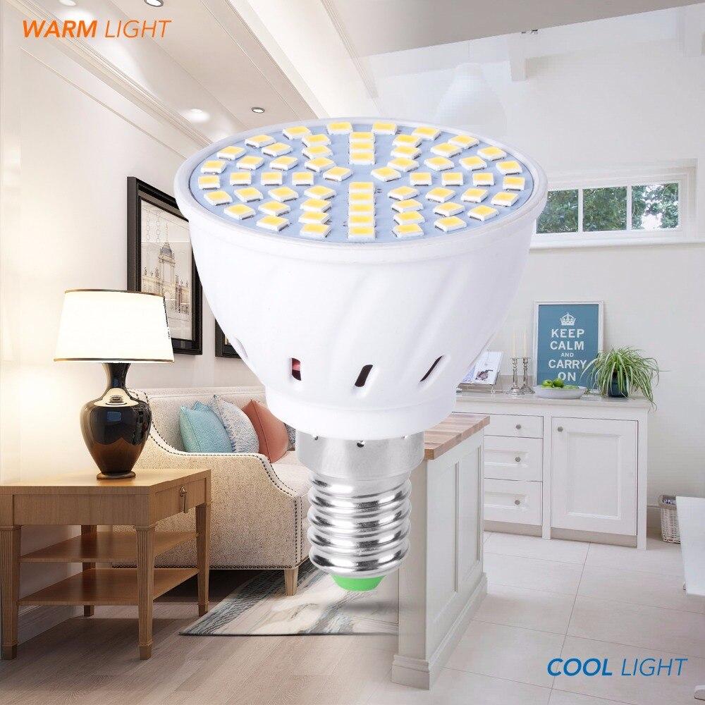 Led E27 220V Corn Lamp E14 Spot light MR16 GU5.3 48 60 80leds Bulb GU10 Bombillas 4W 6W 8W Lampada B22 Spotlight AC 230V SMD2835