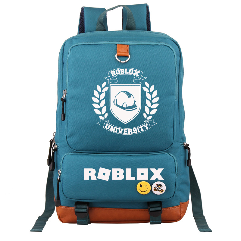 цена Roblox University Printing Backpack Canvas Laptop Backpack Roblox School Bags for Teenage Girls Women Travel Backpack Rugzak