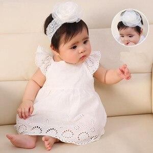 Noworodki dziewczynek sukienka niemowlęca bawełna kwiatowy śnieżka sukienka dla dzieci sukienka do chrztu białe sukienki dla dziewczynek 0 3 6 miesięcy