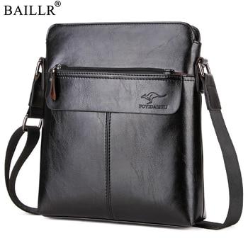 b40c1e17f 2019 nuevo de negocios de moda de cuero de la PU de los hombres bolsa de  mensajero casuales de los hombres, bolso de hombro maletín de alta calidad  Casual ...