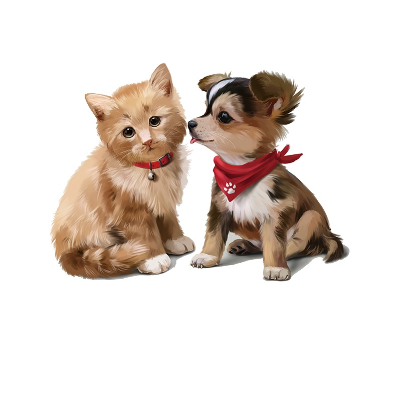 Cute Animal Cat And Dog Kids Clothes Patches Stickers