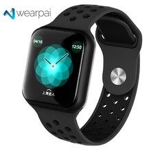 Wearpai f8 relógio inteligente esporte fitness relógio inteligente monitor de freqüência cardíaca pulseira calorias chamada lembrete à prova dwaterproof água