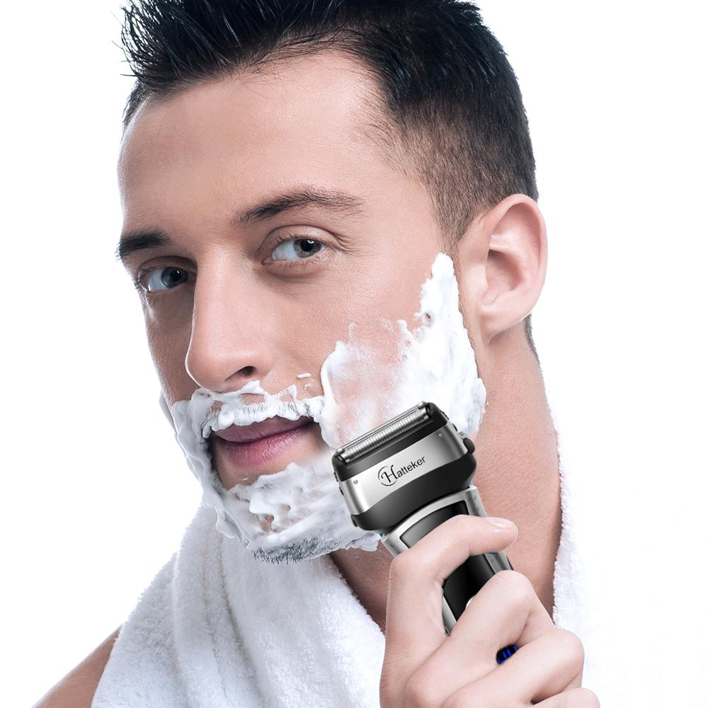 Image 5 - HATTEKER Wet/dry Electric Shaver Hot Sale Beard Shaver for Men Rechargeable Travel Electric Razor Waterproof Shaving Machine-in Electric Shavers from Home Appliances