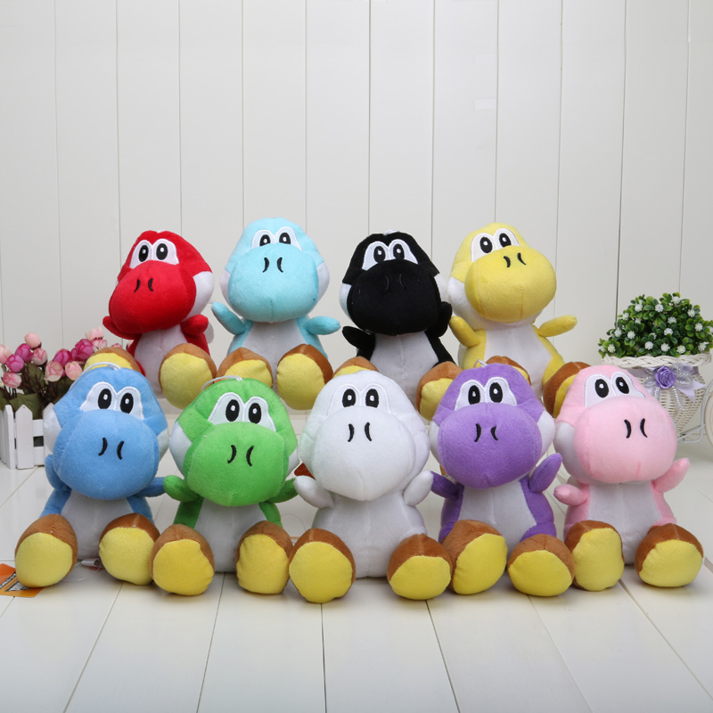 17CM Super Mario Bros Yoshi Plush Stuffed toys Dolls Mario Plush Toys Free shipping