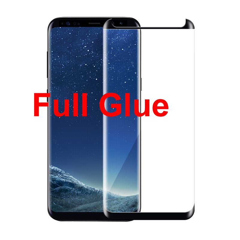 for Samsung Galaxy s8 s9 Plus 3D full glue tempered glass for Samsung note 8 9