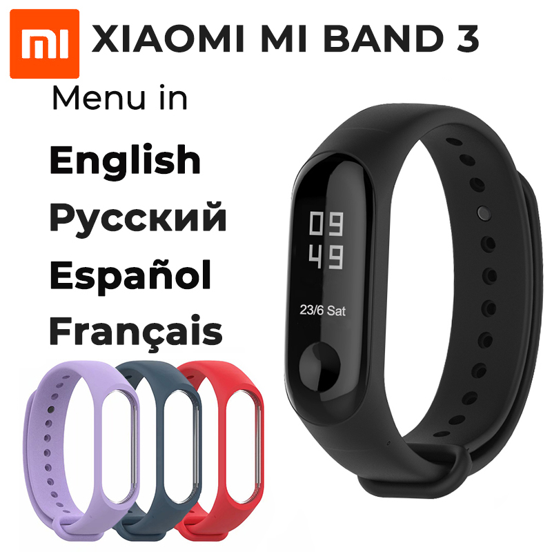 Xiaomi Mi Band 3 Fitness Tracker 50m Waterproof Smart Band watch OLED Display Touchpad Heart Rate