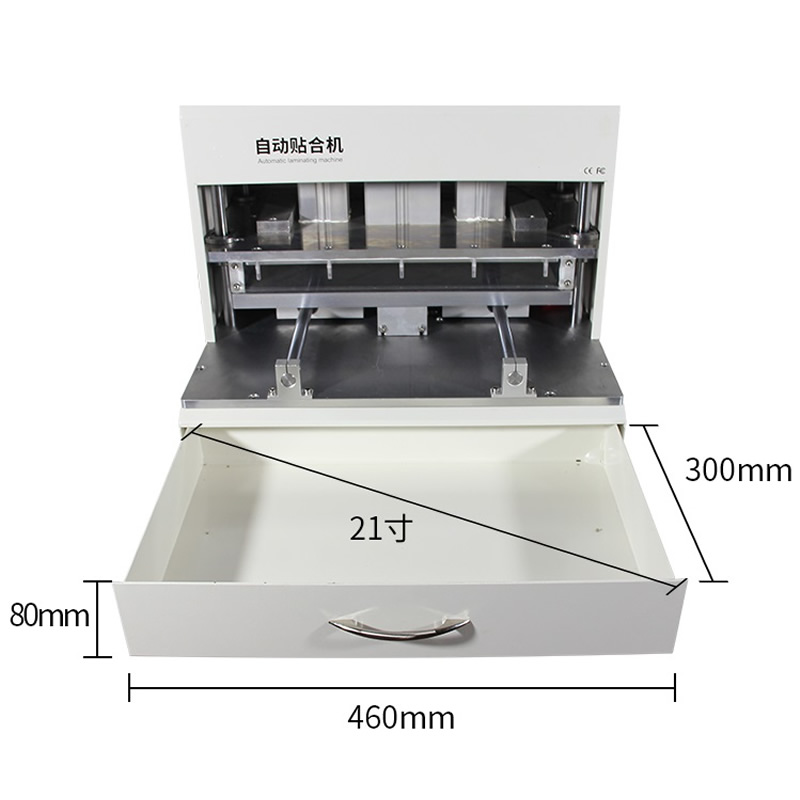 LY-898D Mobile Phone LCD OCA Laminator Machine with UV Lamp Cureing Box for 18 inches Screen Laminating