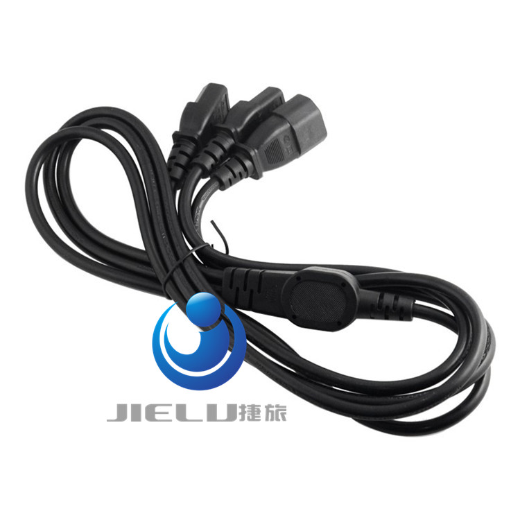 10PCS C14-2*C13,IEC320 C14 Male Plug To 2*IEC320 C13 Female Y Splitter Power Extension Cable Cord PDU UPS Cable Cord 1M/2M high quality iec 320 c14 3pin male plug to c13 female ups pdu power extension cord adapter cable