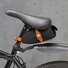 Tourbon Outdoor Bicycle Saddle Bag MTB Seat Tail Pouch Black Canvas Phone Holder Bike Case Water Repellent Cycling Accessories