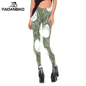 Image 2 - NADANBAO Woman Legging Neighbor Totoro Design Legins Green And White  Leggins Printed Women Leggings Women Pants