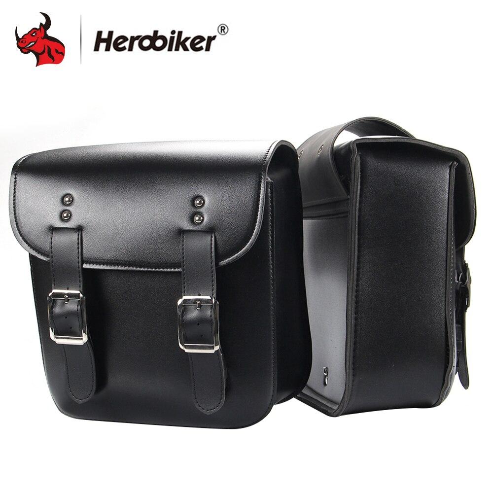 HEROBIKER 1 пара мотоцикл сумка Sportster танк сумка Mochila Moto Alforjas Para мото круиз сторона инструмент сумка из искусственной кожи хвост чемодан