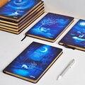 LENWA Maravilhoso Notebook A5/B5 Alce Noite Dura Notepad Diário 1 PCS