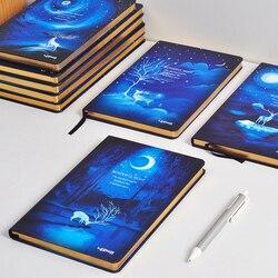 Lenwa wonderful notebook a5 b5 elk night hard notebook notepad diary 1pcs.jpg 250x250
