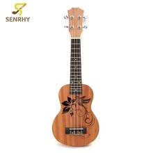 21 inch 15 Frets Soprano Ukulele with Sapele Rosewood 4 Strings Acoustic Guitar For Beginners or Basic Players Guitarra Gift