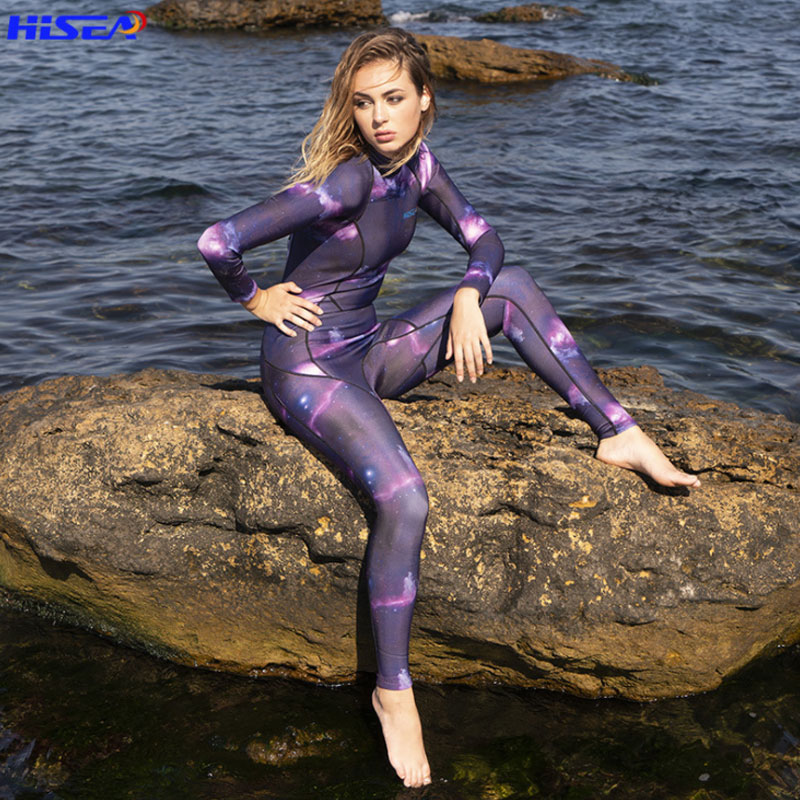 Hisea 3mm Long Sleeve Women Diving Suit Anti-UV One Piece Wetsuit Swimsuit for Surfing Spearfishing Keep Warm Snorkeling SuitHisea 3mm Long Sleeve Women Diving Suit Anti-UV One Piece Wetsuit Swimsuit for Surfing Spearfishing Keep Warm Snorkeling Suit